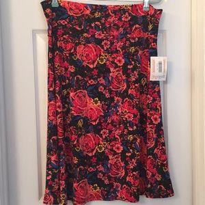LuLaRoe Azure Skirt With Roses Sz 2X NWT